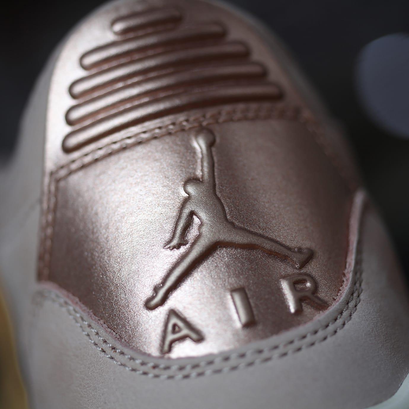 3df69b6a9e0 Image via GC911 · Air Jordan 3 III Women's Particle Beige Release Date  AH7859-205 Heel Logo