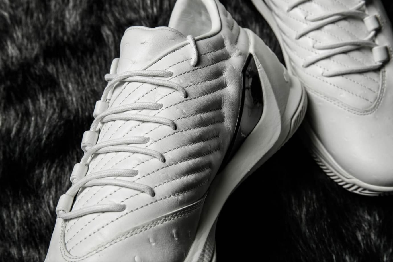 Under Armour Curry 3 Low Lux White Ostrich Medial
