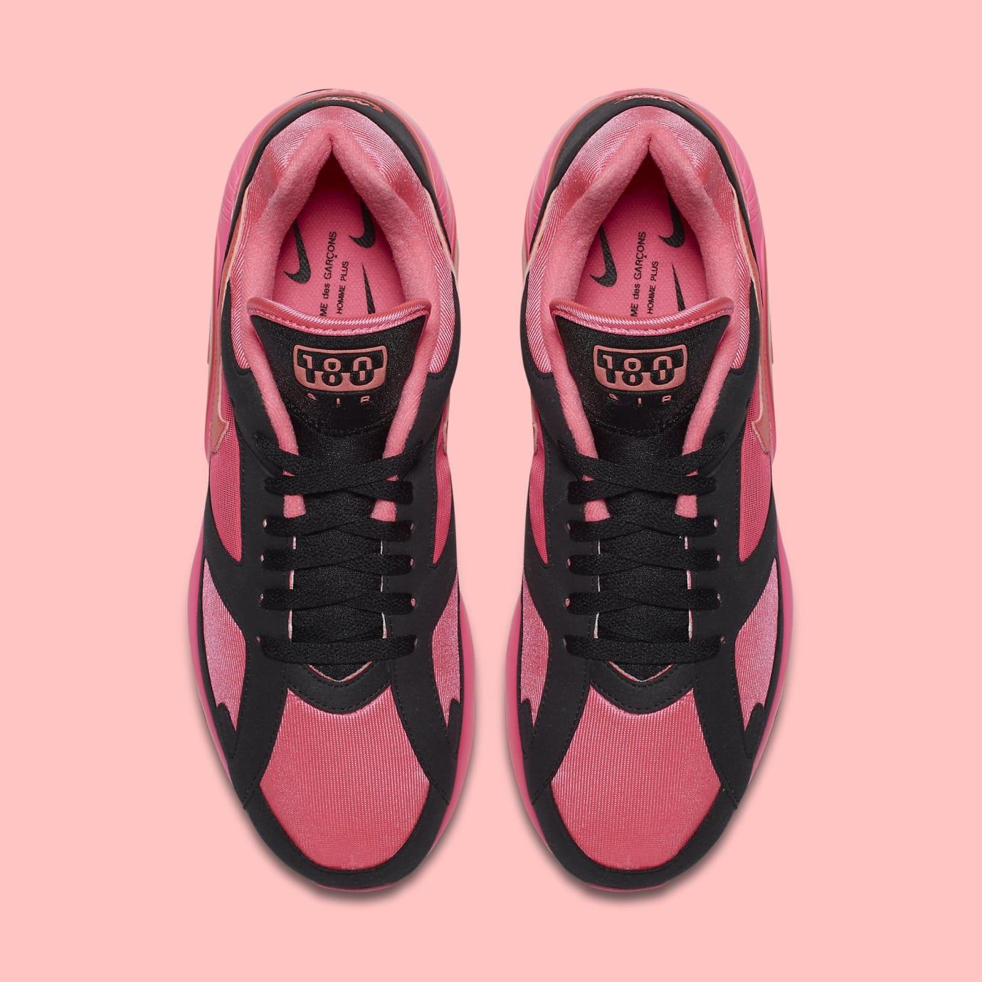 Comme des Garçons x Nike Air Max 180 'Black' AO4641-601 (Top)