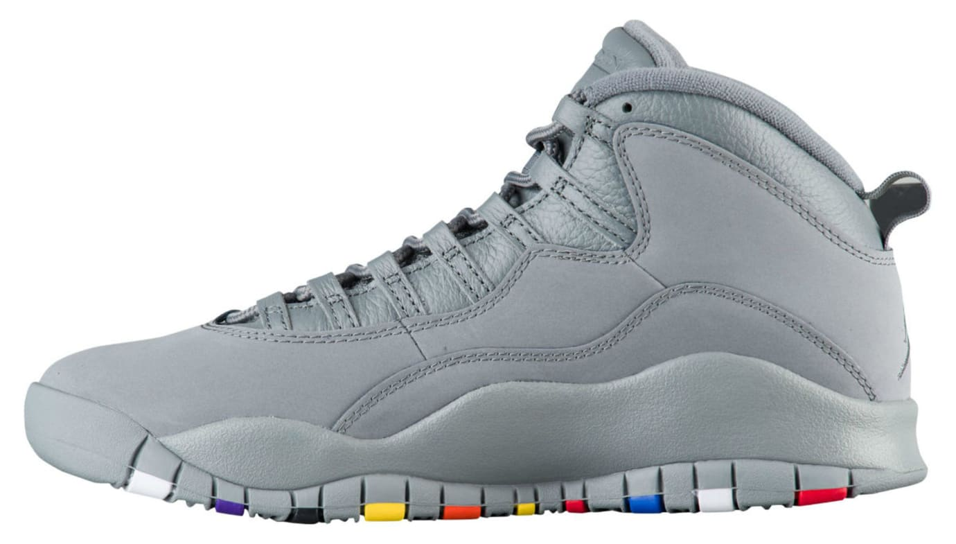 96a2733f268f Air Jordan 10 X Cool Grey Release Date 310805-022 Medial