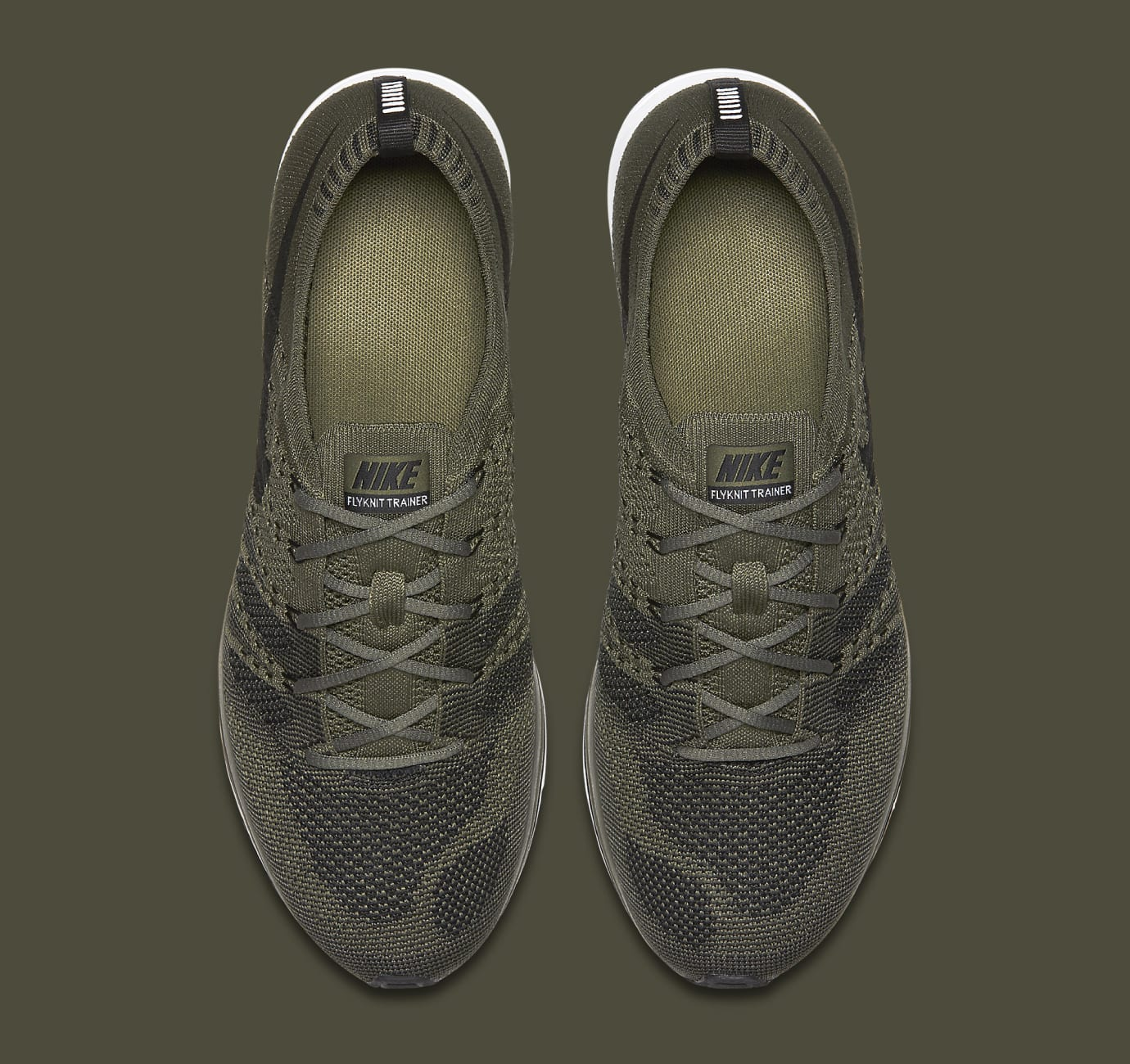 Nike Flyknit Trainer Olive AH8396-200 Top