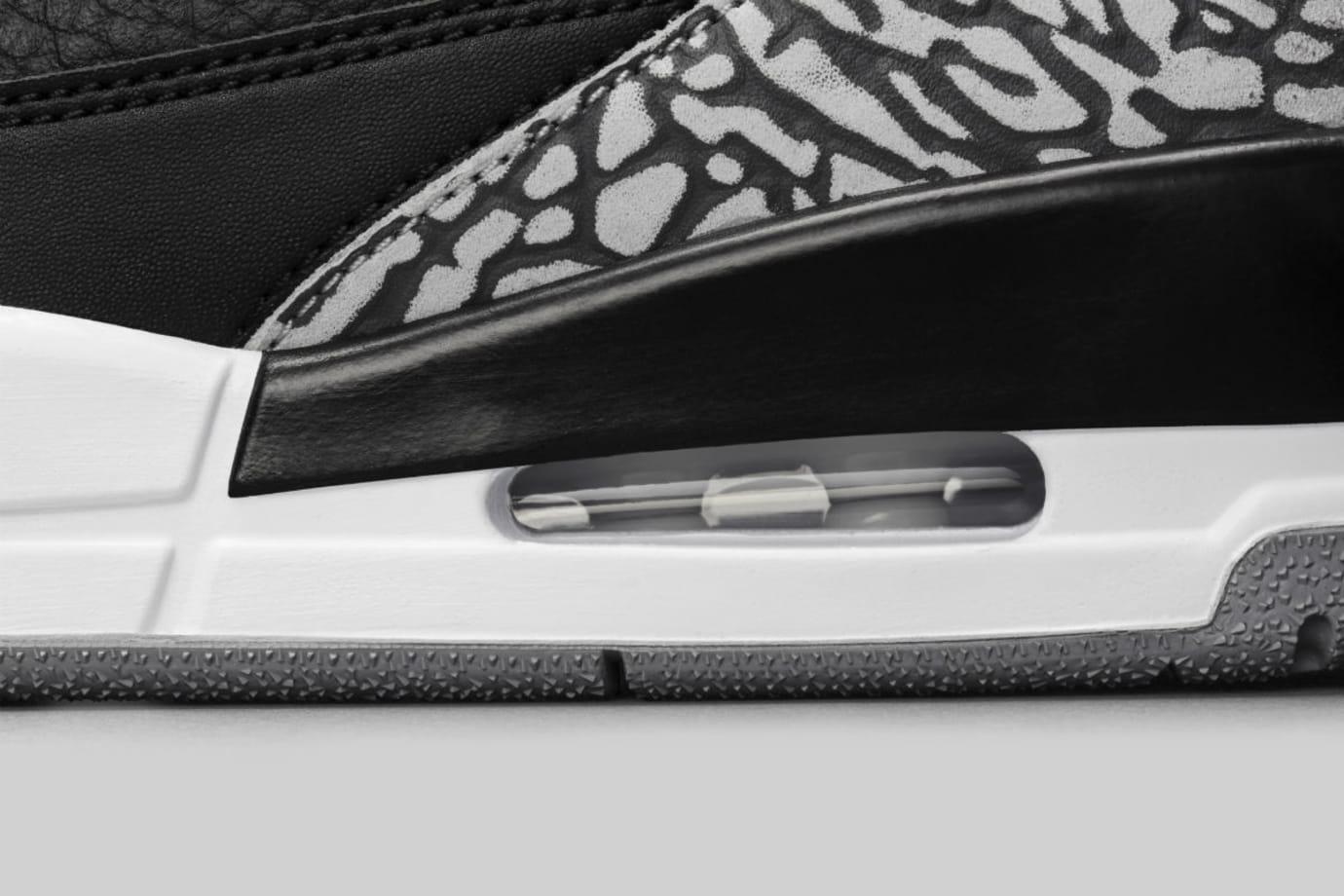Air Jordan 3 III Black Cement Release Date 854262-001 Midsole