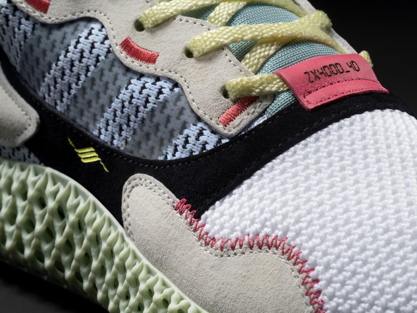 ae763d80d349f Adidas ZX 4000 4D  Footwear White Grey  B42203 Release Date
