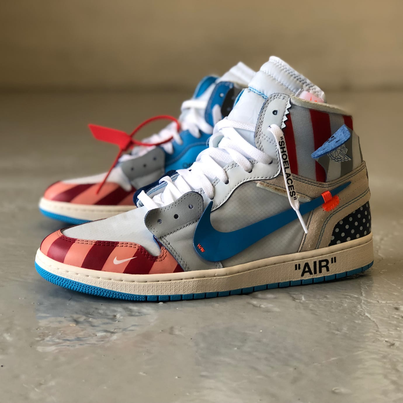 edf1e7f31085 Image via Mache275 · Parra x Off-White x Air Jordan 1 Mache Custom Side