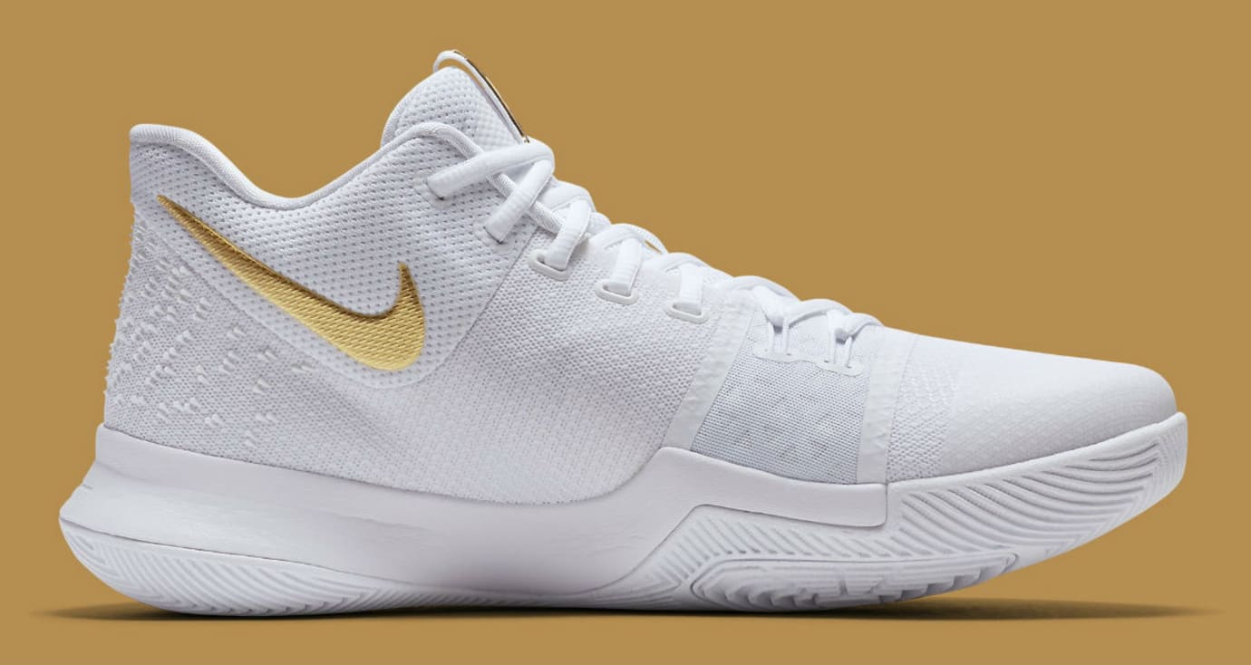 best website a5f83 8b9cc Nike Kyrie 3 White/Gold Christmas Release Date 852396-902 ...