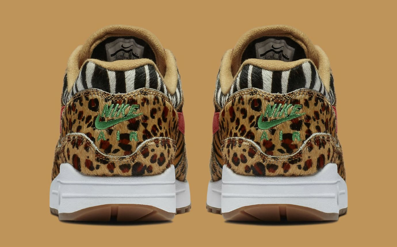Atmos x Nike Air Max 1 Animal Pack Release Date AQ0928-700 Heel