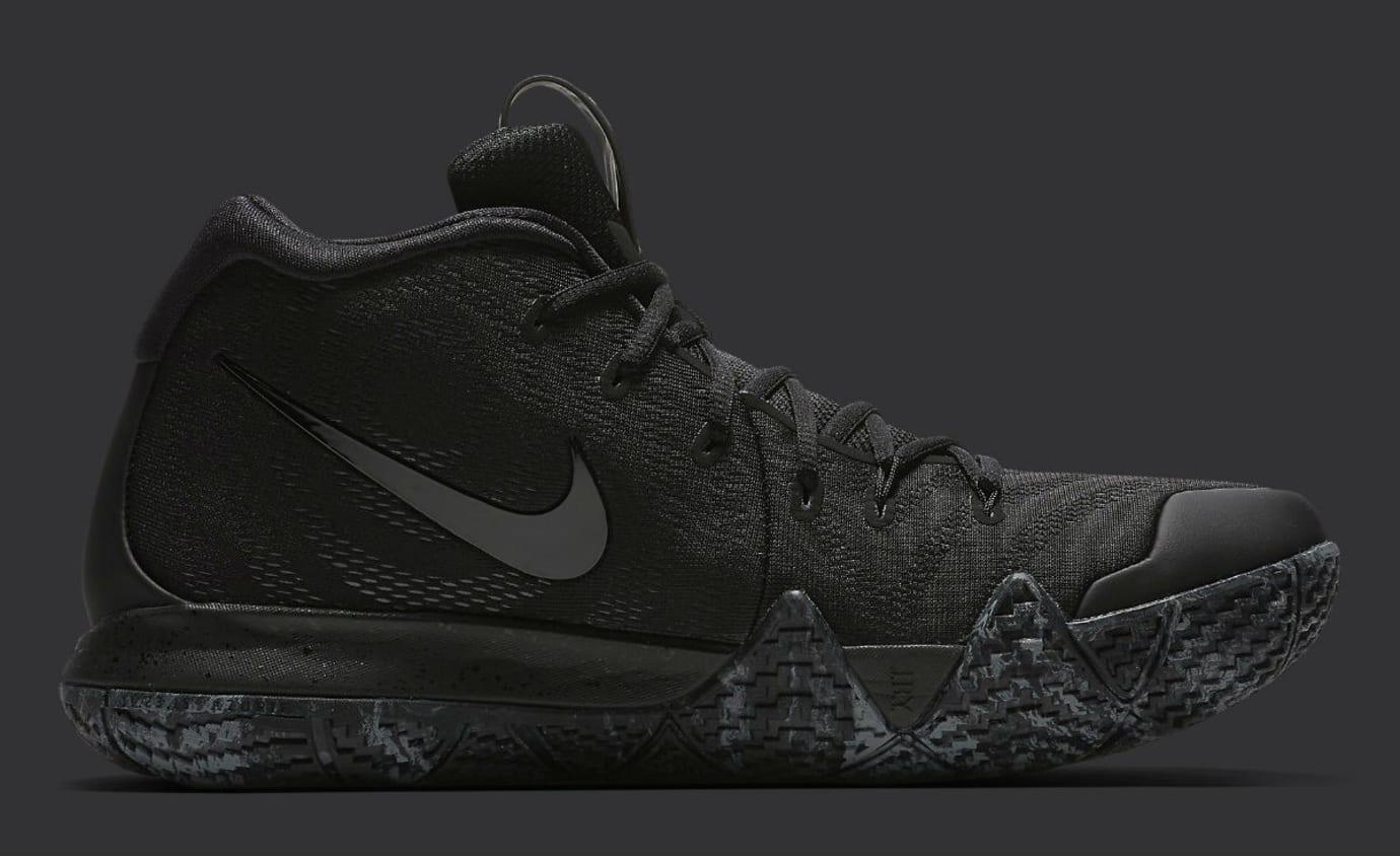Image via Nike Nike Kyrie 4 Triple Black Release date 943807-008 Medial 362ec7213