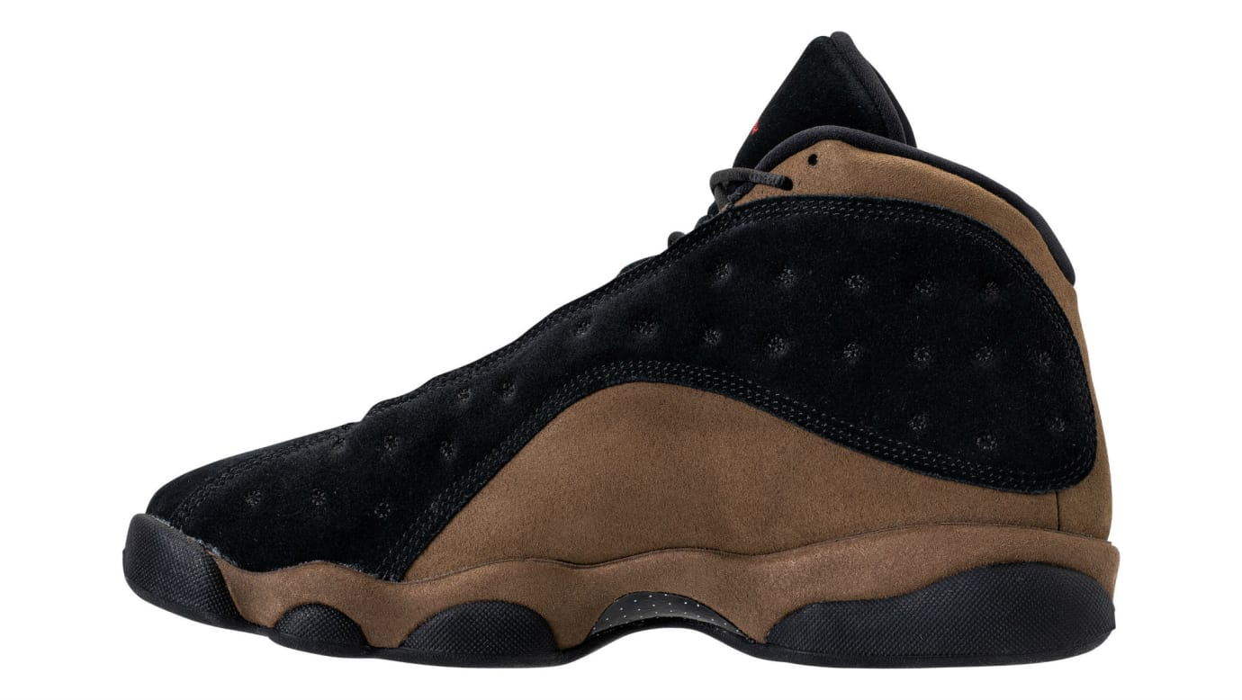 the latest 50978 7ae94 Air Jordan 13 XIII Olive Release Date 414571-006 Medial