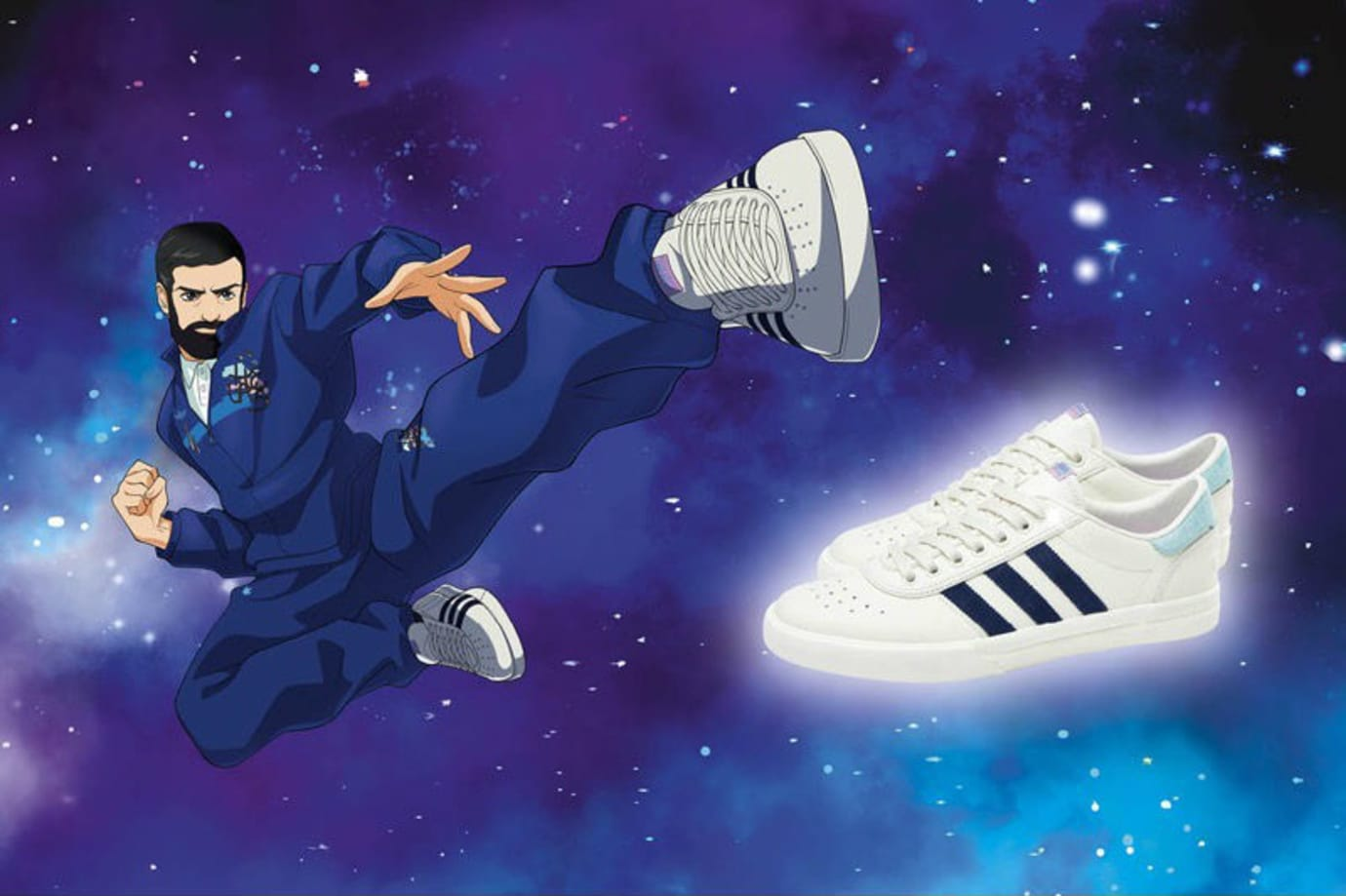 Helas x Adidas Skateboarding Anime Collection Release Date Shoes