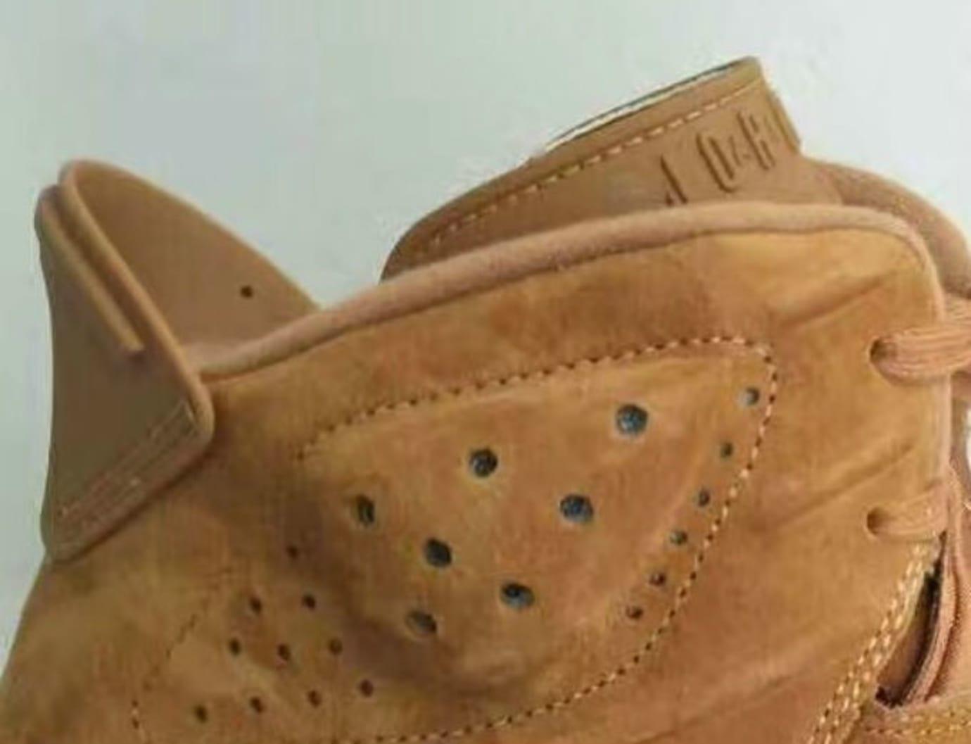 Air Jordan 6 Golden Harvest Wheat Release Date Heel 384664-705