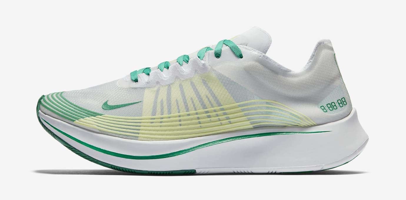 Nike Zoom Fly SP White Lucid Green AJ9282-101 Profile