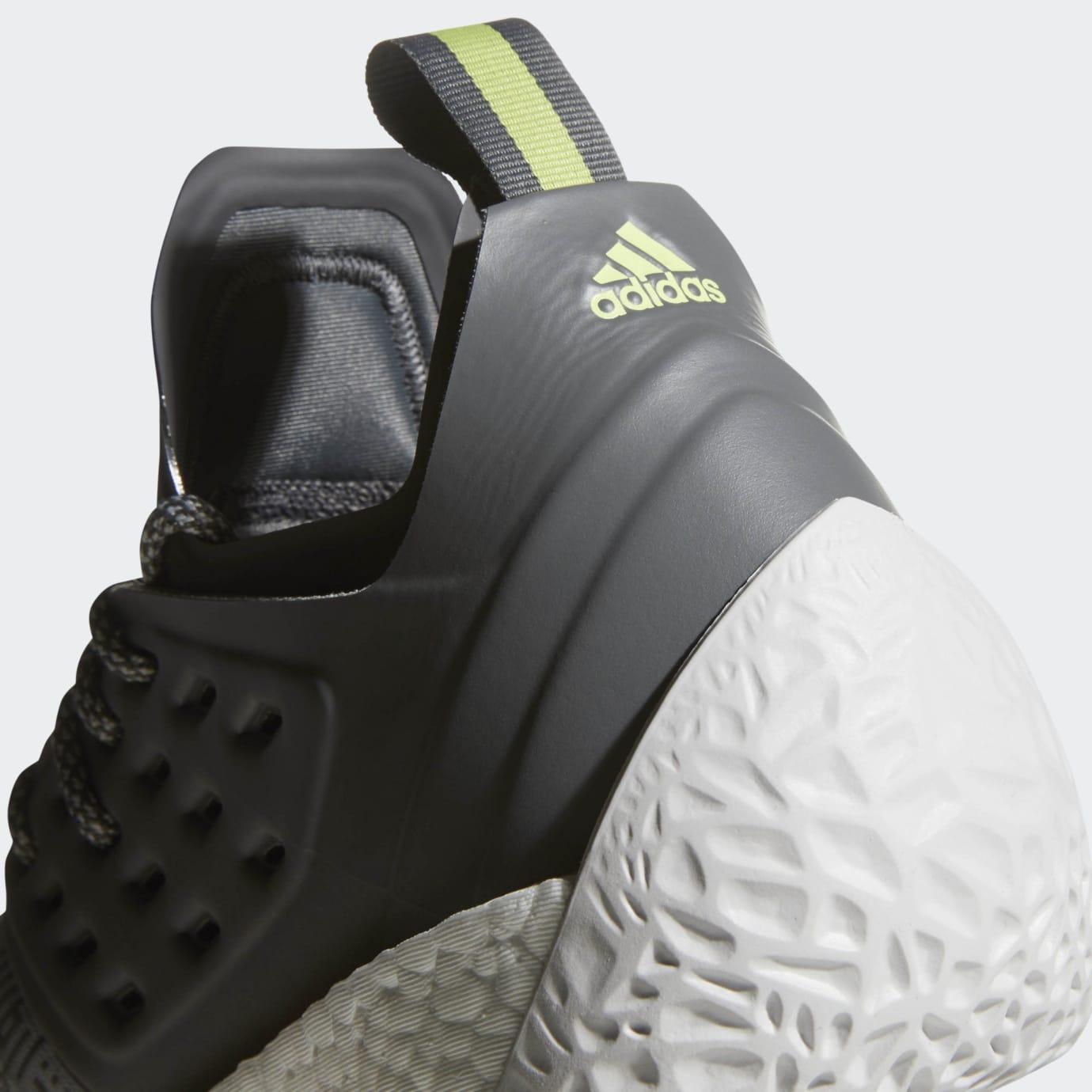 Adidas Harden Vol. 2 Concrete Grey Release Date AH2122 Heel