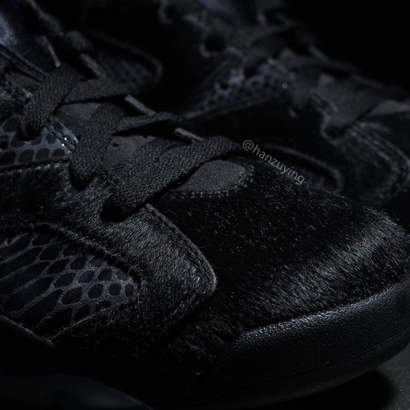 1bcdfb7b492 Air Jordan 6 VI Cow Fur Snakeskin Black Purple Release Date AR2257-005 Toe