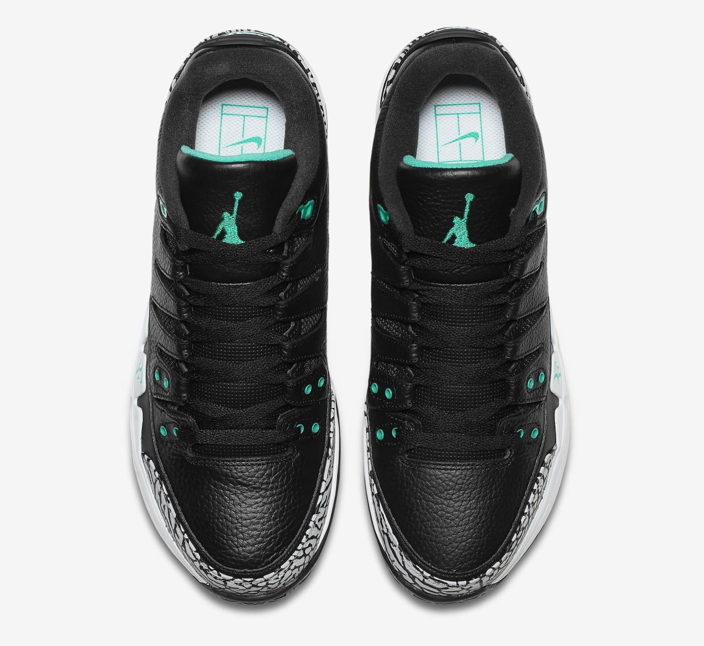 a75bd3f3c32b7b Nike Zoom Vapor Air Jordan 3 Atmos Black Jade 709998-031 Release ...