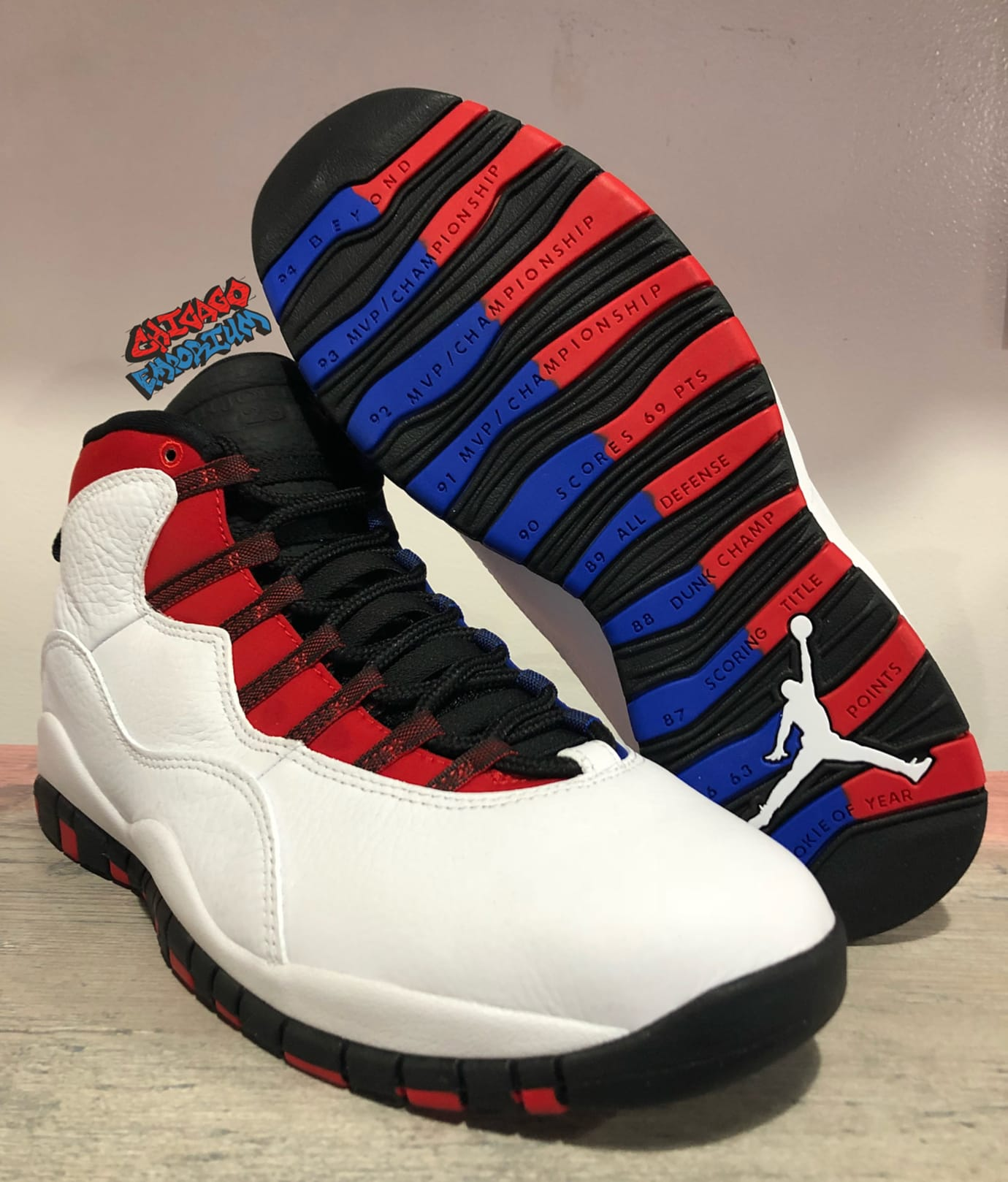 7e5c59bd0cc Image via Chicago Emporium · Air Jordan 10 X Westbrook Olympians Release  Date Left Sole