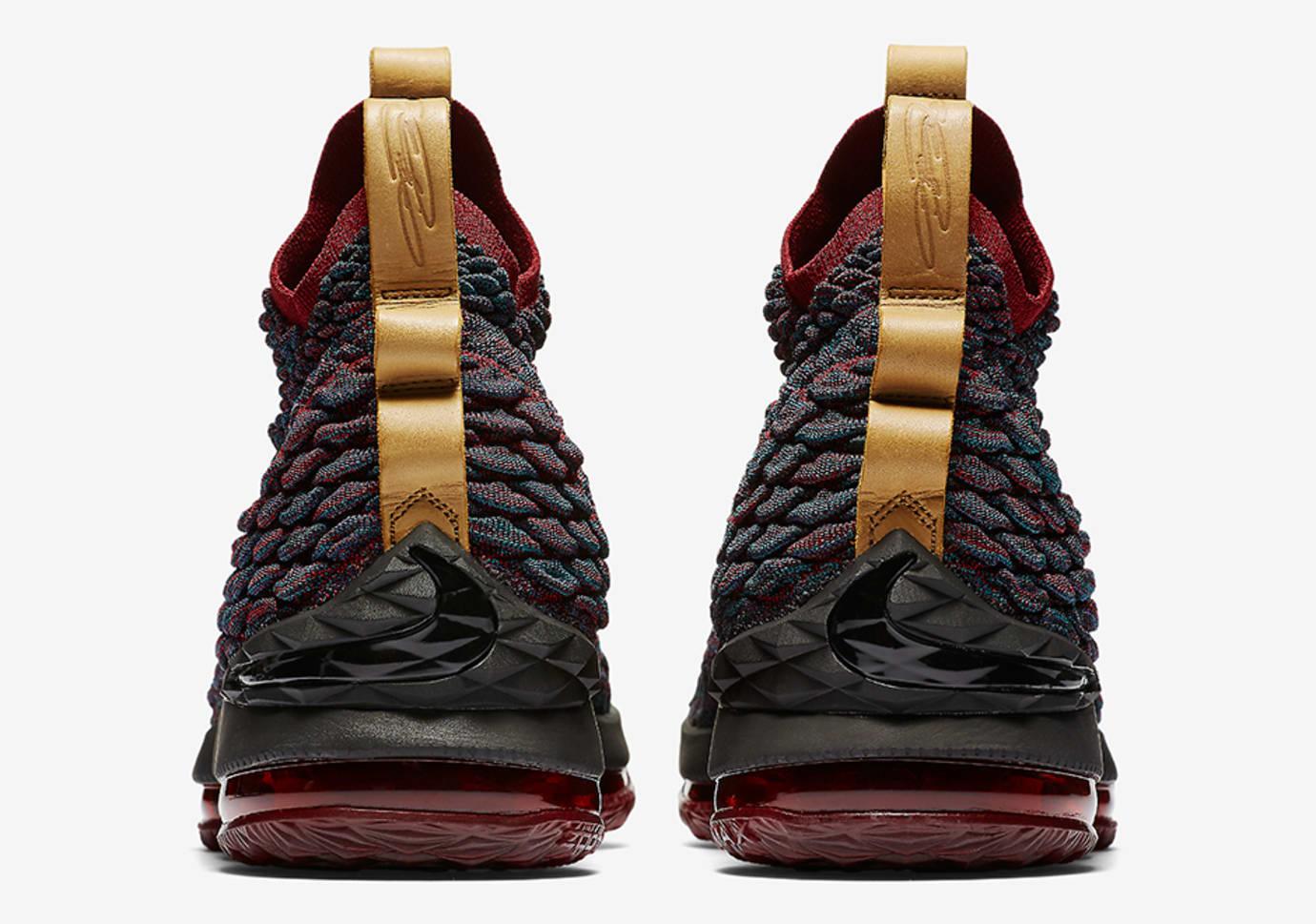 435bf55a384 Image via Nike Nike LeBron 15  New Heights  897648-300 (Heel)