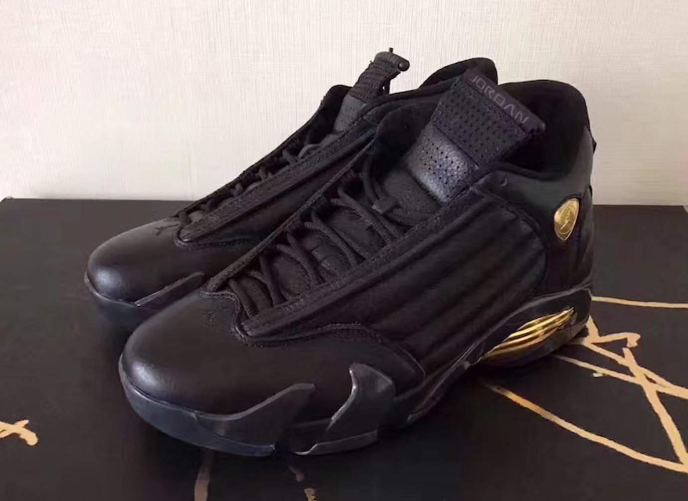 buy popular e309a 94d94 Air Jordan 14 Defining Moments Black Gold Release Date 487471-022 (3)