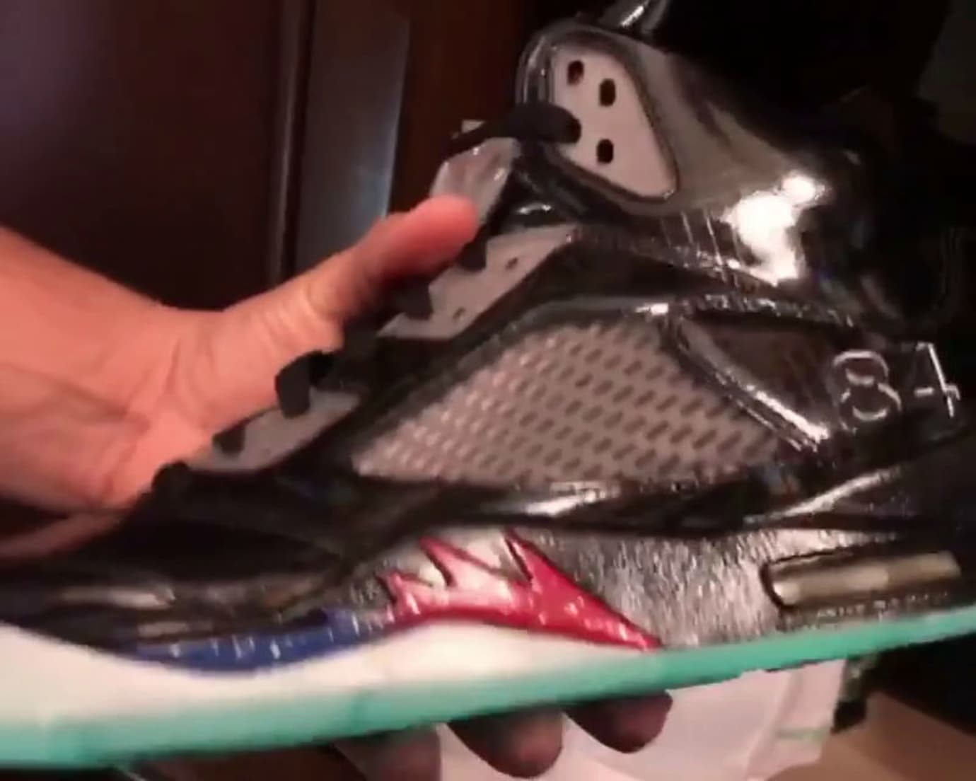 the latest aaa83 21d79 Mark Wahlberg Air Jordan 5 Transformers Number