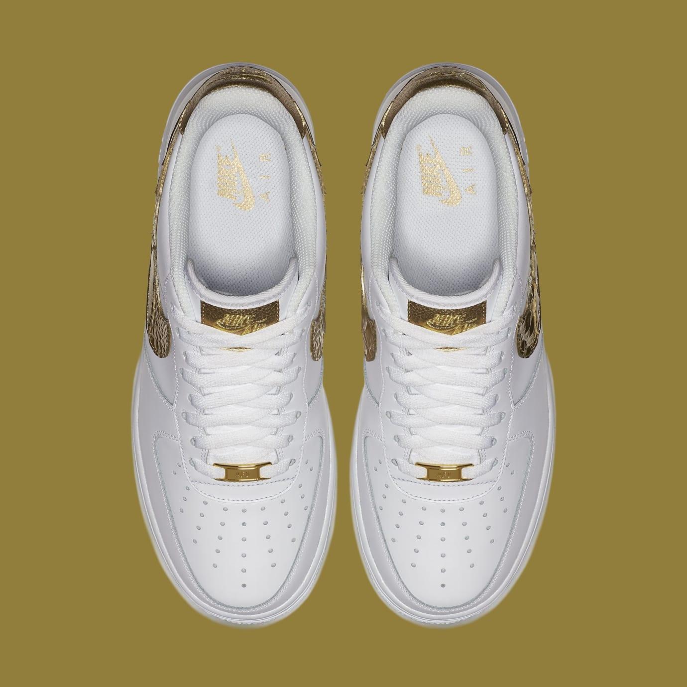 Nike Air Force 1 CR7 'Golden Patchwork' WeißGold | AQ0666 100