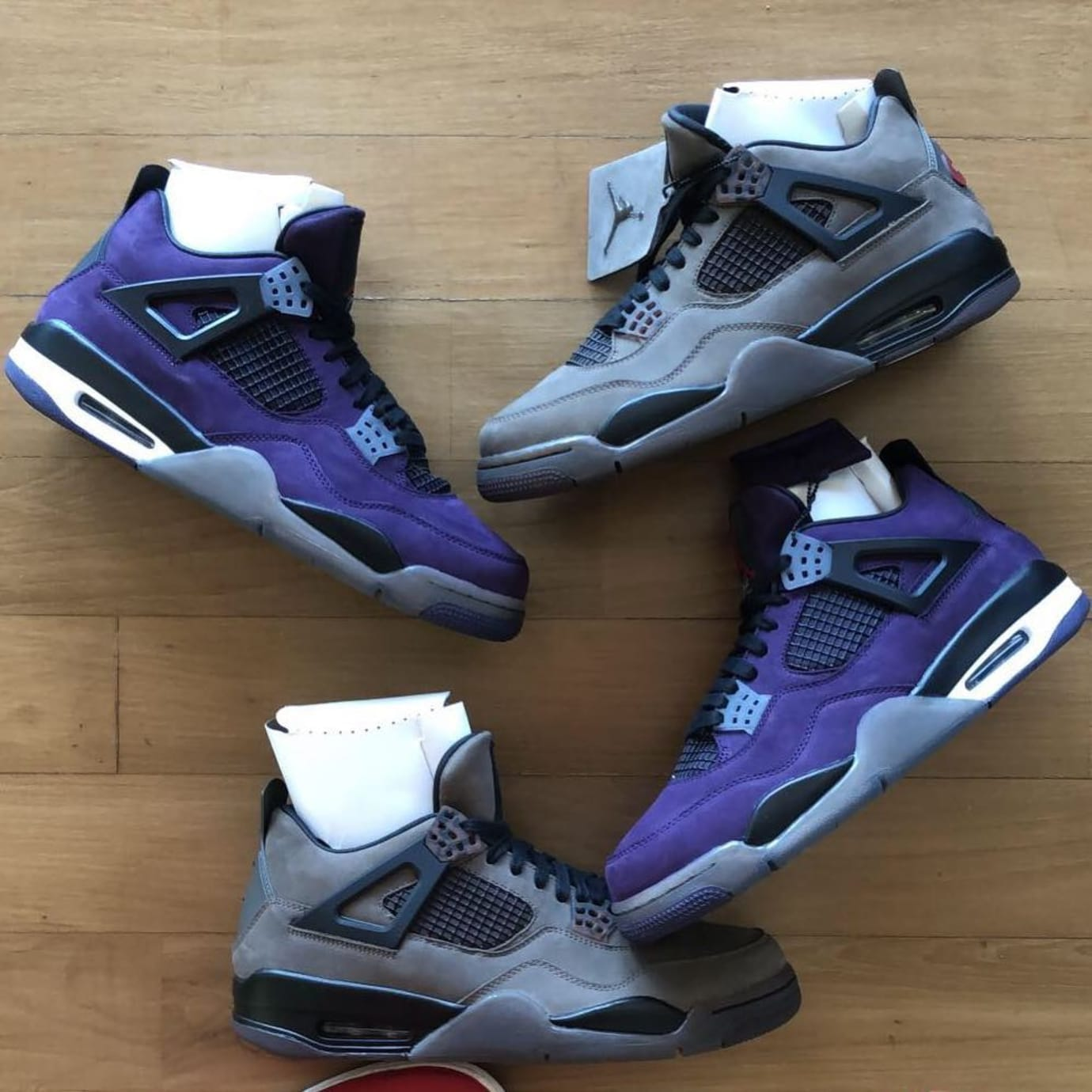 Image via dpthekid · air-jordan-4-travis-scott-purple-olive-don- 7059c909c