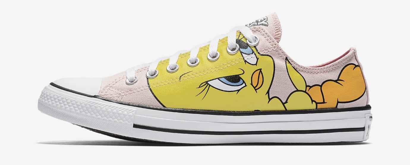 reputable site 9fb8c edacc Image via Nike Tweety Bird Converse Sneakers