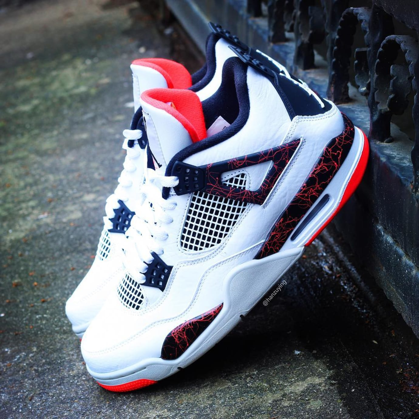 new product 279a7 496ac Air Jordan 4 Retro 'White/Black-Light Crimson-Pale Citron ...