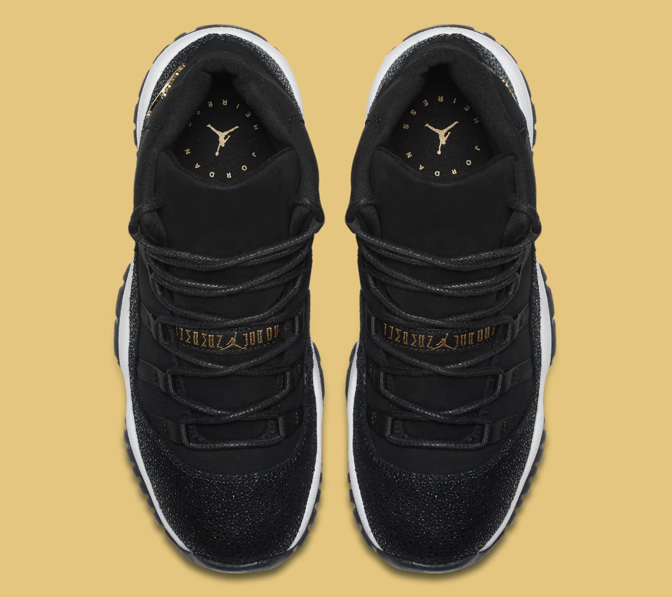 save off d542a 22ea1 Air Jordan 11 XI Heiress Collection Black/Gold Release Date 852625 ...