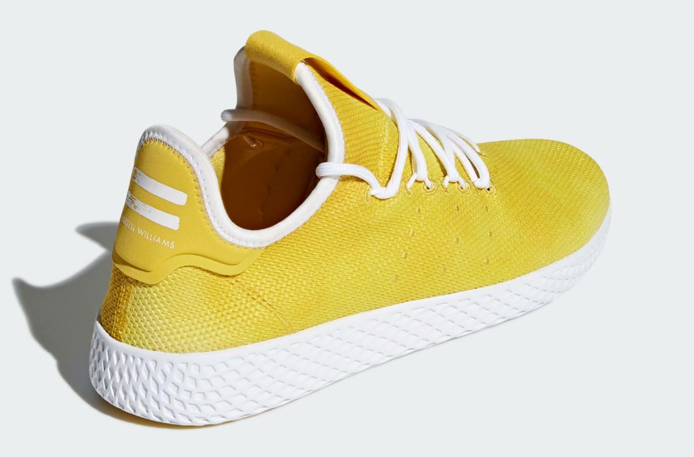 Pharrell x Adidas Tennis Hu Holi Bright Yellow Release Date DA9617 Back