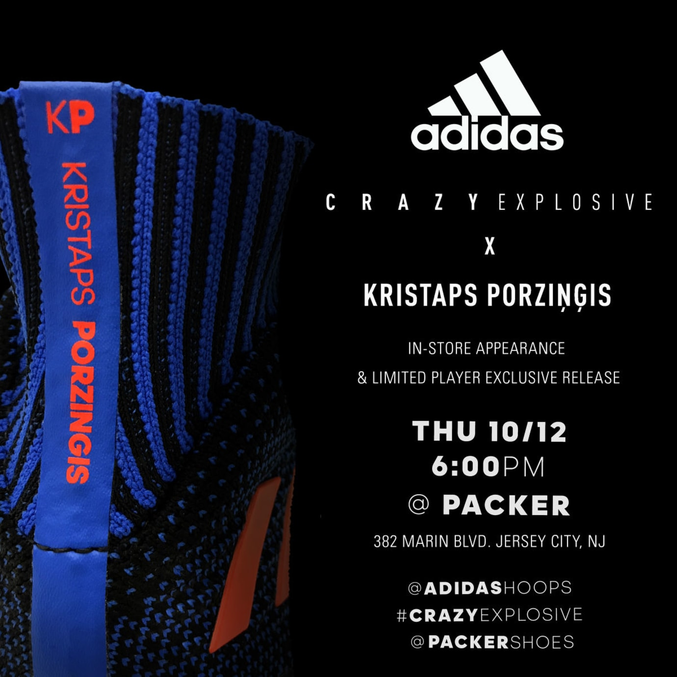 new products 1e2f8 b684a Adidas Crazy Explosive Kristaps Porzingis PE Release Date