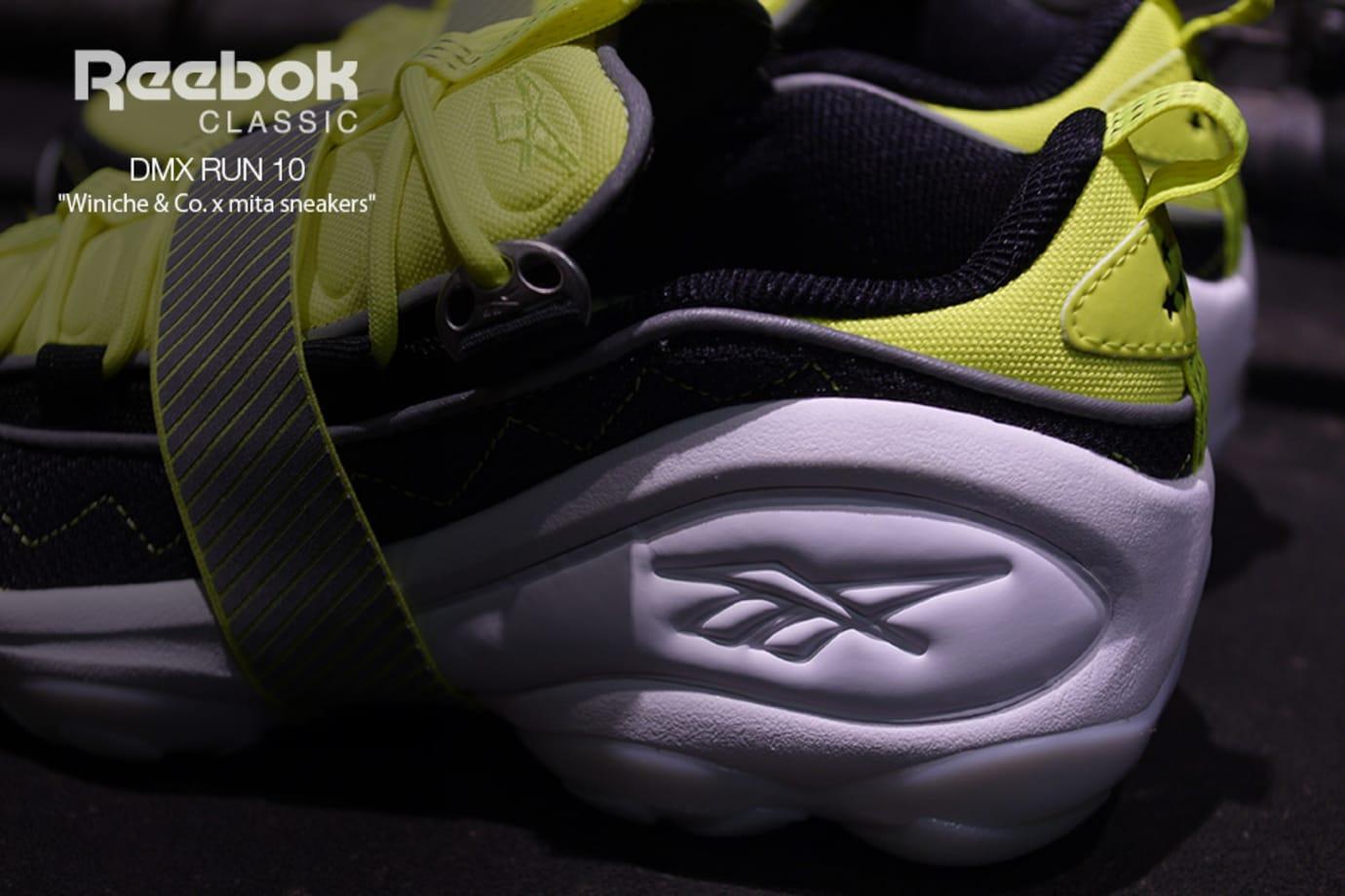 Winiche & Co x Mita Sneakers x Reebok DMX Run 10 (Heel)