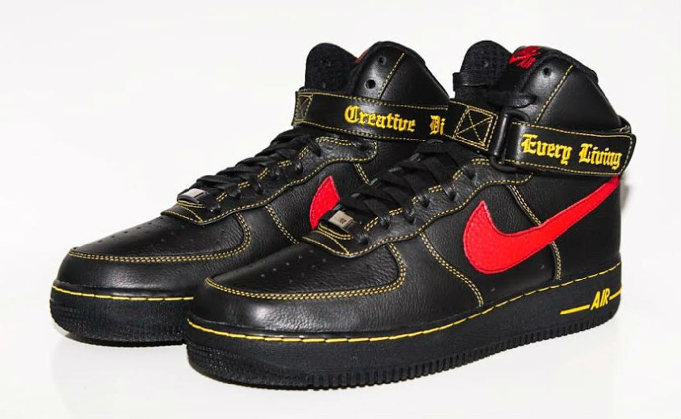 Vlone x Nike Air Force 1 High Black/Red Paris Release (4)