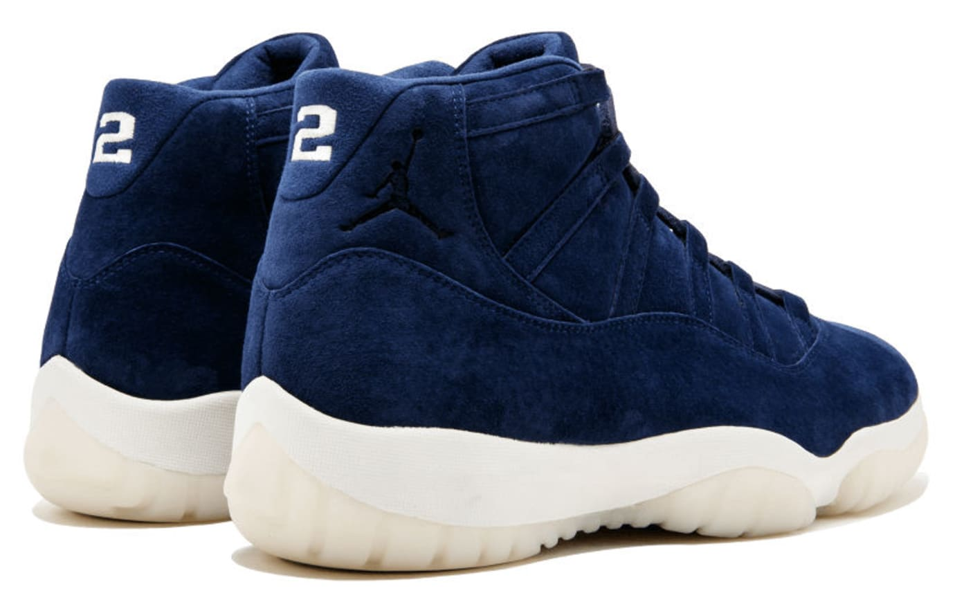 buy popular 8ea31 b4fe3 Derek Jeter Air Jordan 11 XI Navy Blue Suede $40,000 | Sole ...