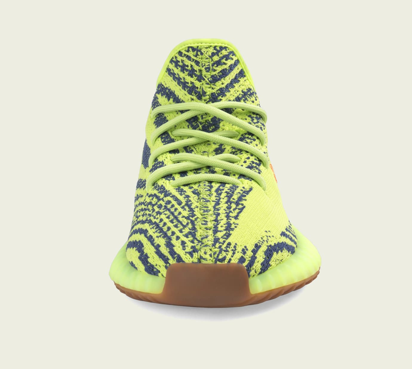 Semi Frozen Yellow Adidas Yeezy Boost 350 V2 Toe