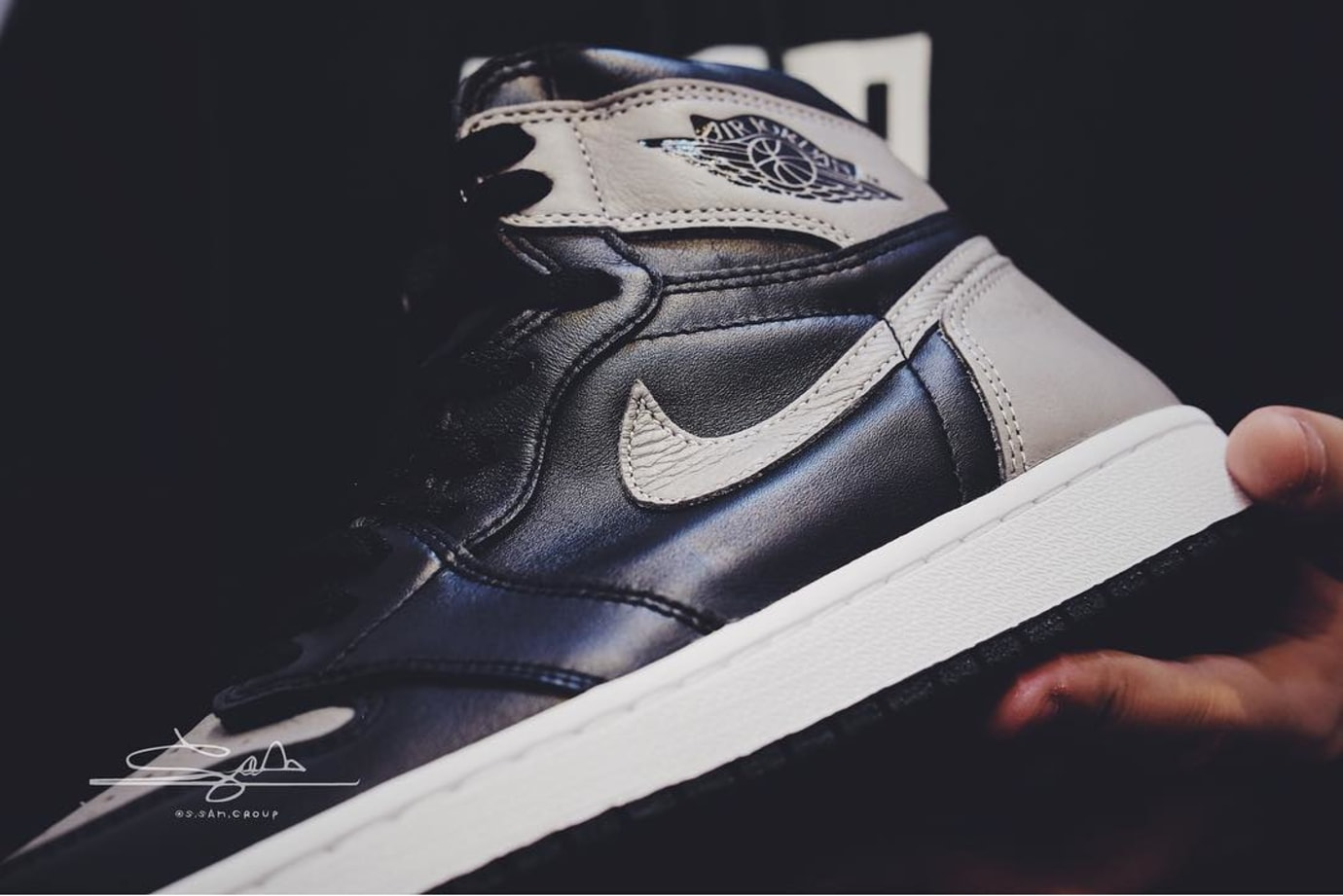 Air Jordan 1 I High OG Shadow 2018 Release Date 555088-013 Midsole