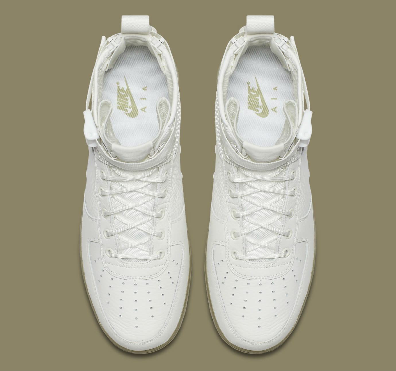 76fa35208f Nike SF Air Force 1 Mid Ivory Neutral Olive Release Date Top 917753-101