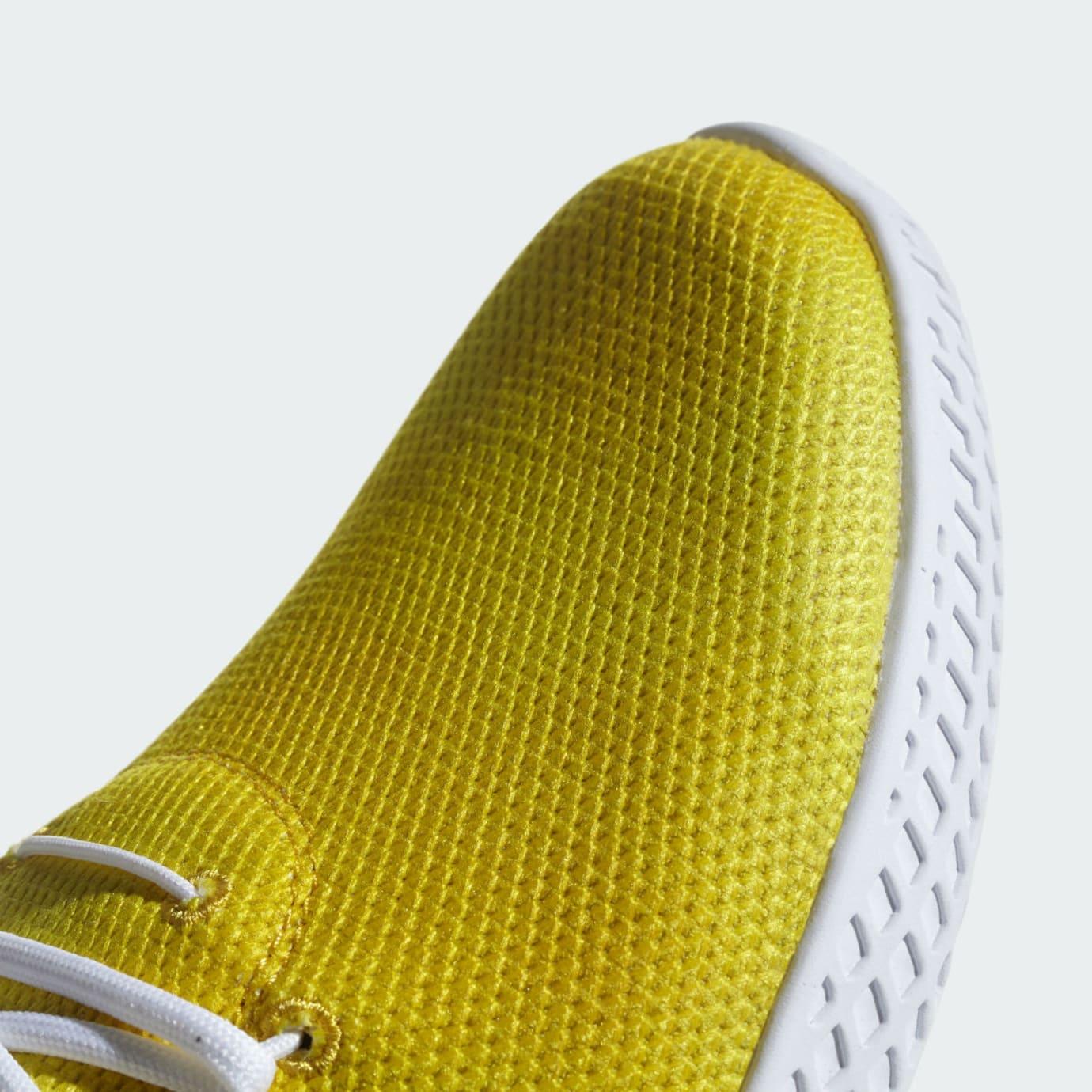 Pharrell x Adidas Tennis Hu Holi Bright Yellow Release Date DA9617 Toe