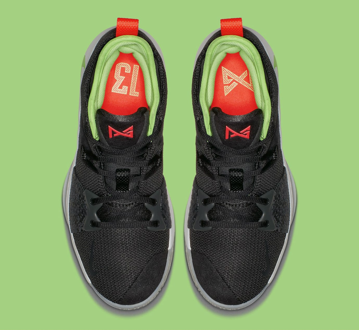 Nike PG 2 Anthracite Hot Punch White Wolf Grey Release Date AJ2039-005 Top