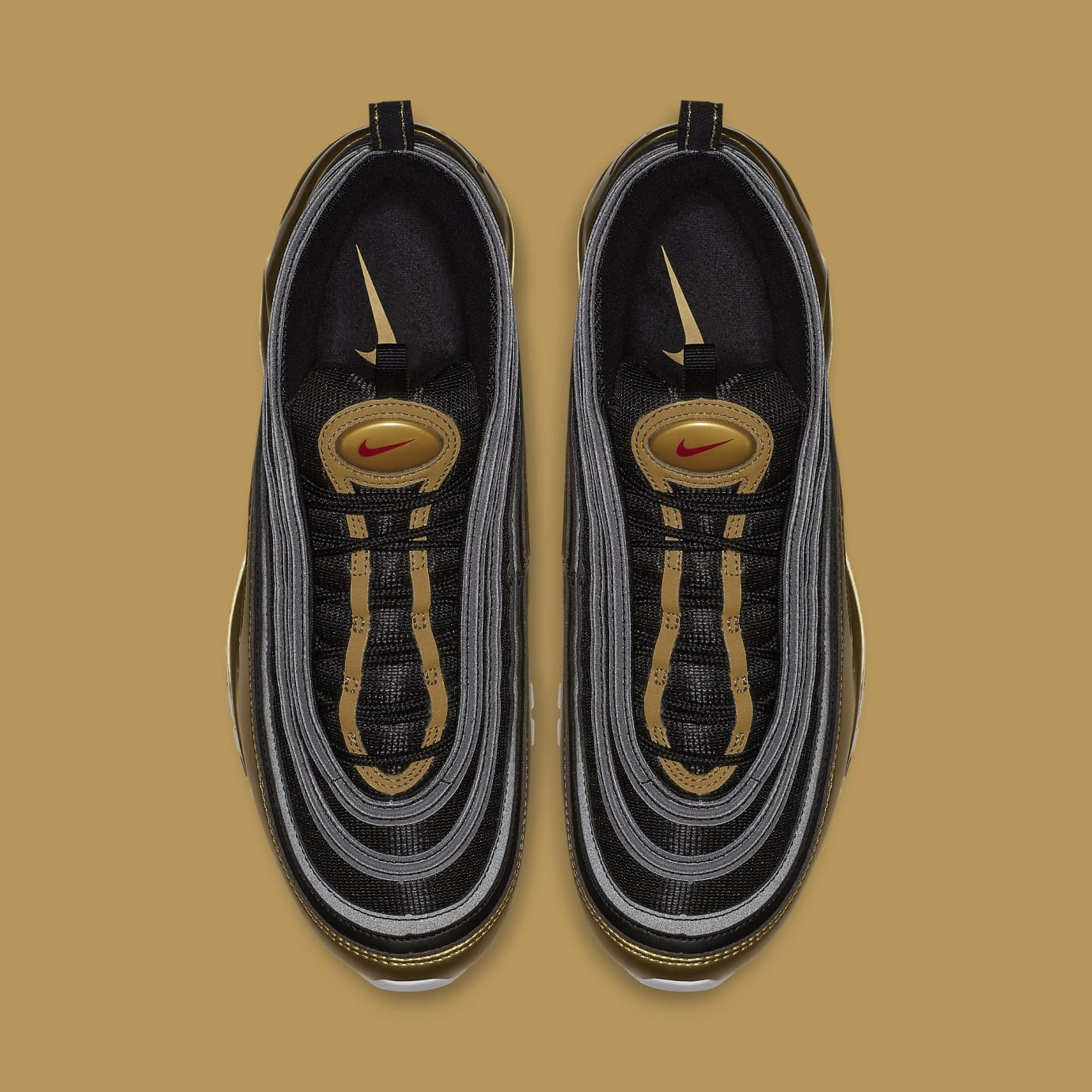 Nike Air Max 97 'Black/Metallic Gold' AT5458-002 (Top)