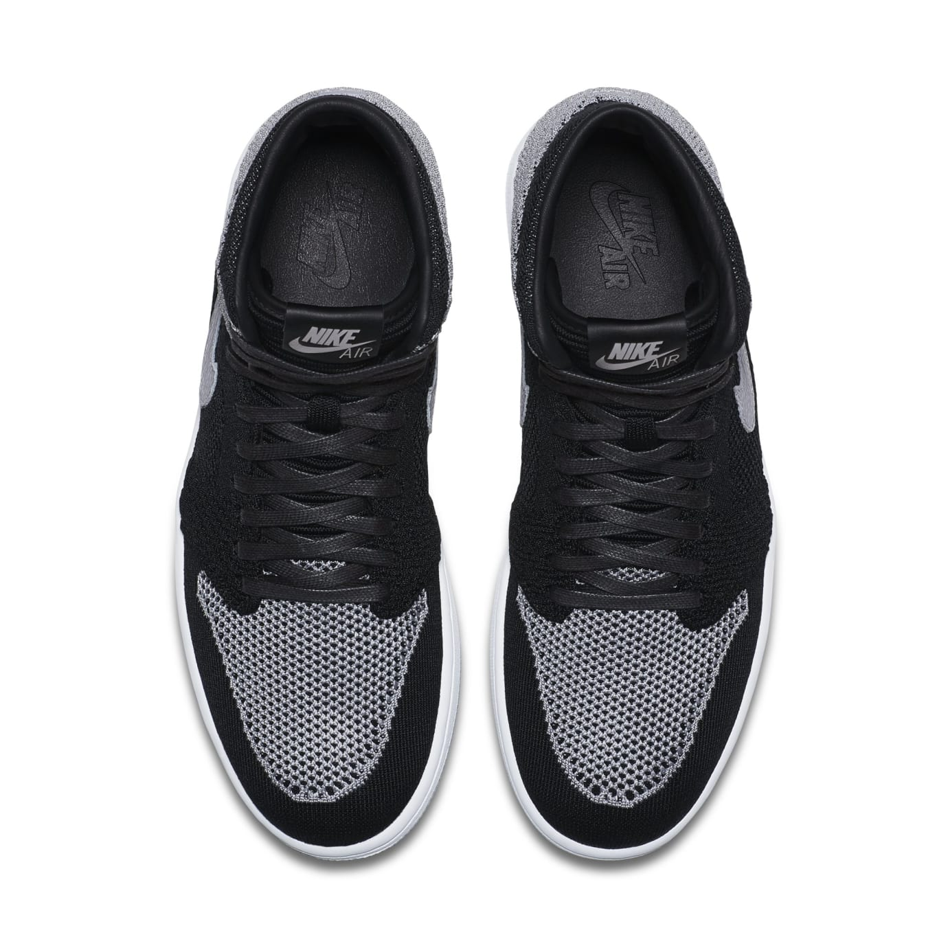 bba3cc17bd97c5 Image via Nike Air Jordan 1 Flyknit  Shadow  Black Medium Grey-White 919704- 003