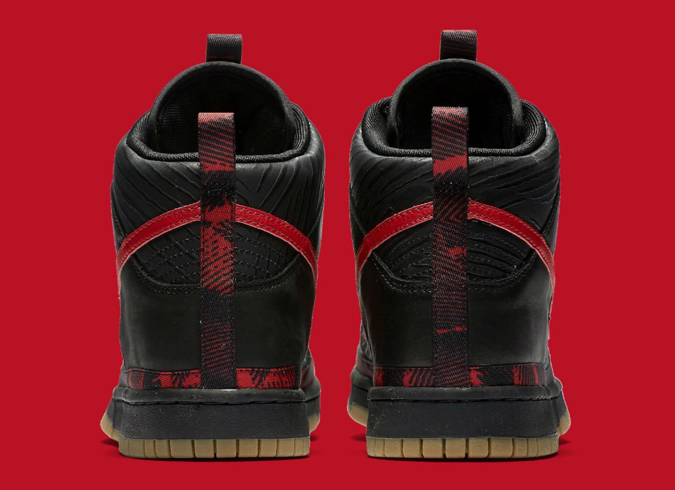 Nike N7 Dunk High Black Red Release Date Heel AA1126-001