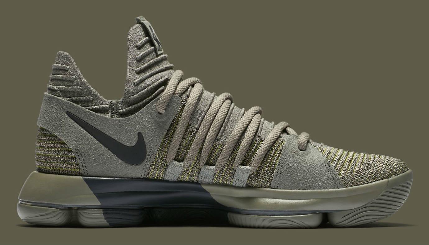 new concept d5baf edfad Nike KD 10 Dark Stucco Release Date 897817-002 Medial