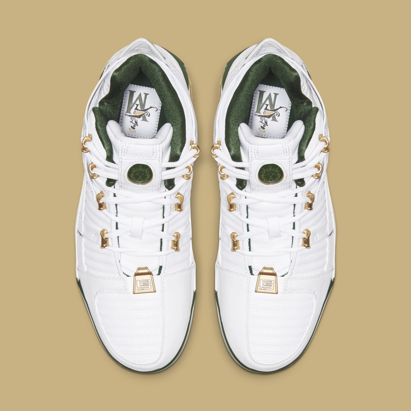 3fc54d341ebbaa Nike Zoom LeBron 3 Retro  SVSM Home  White Deep Forest-Gold Dust ...