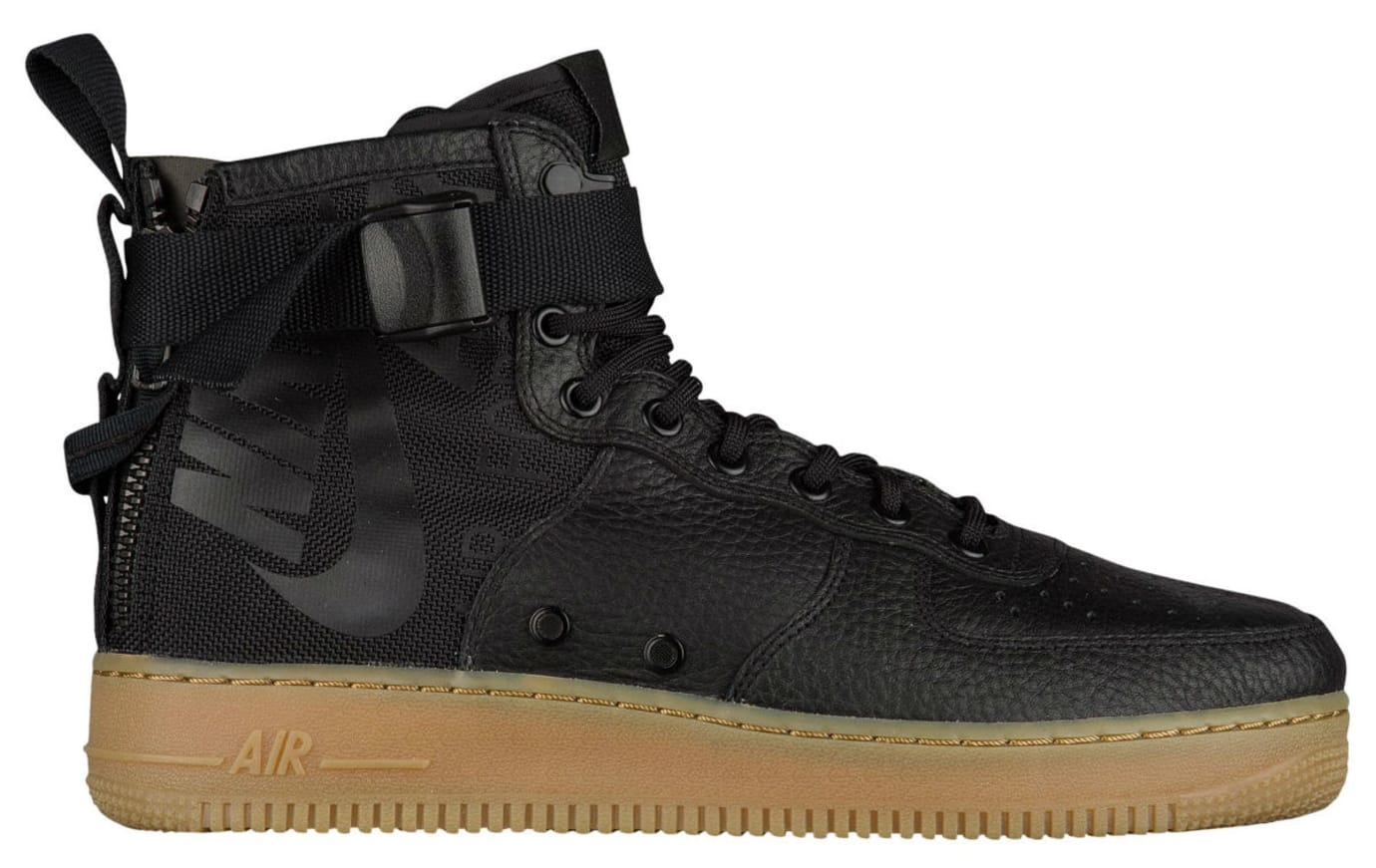 Nike SF Air Force 1 Mid Black Gum Release Date Profile 917753-003