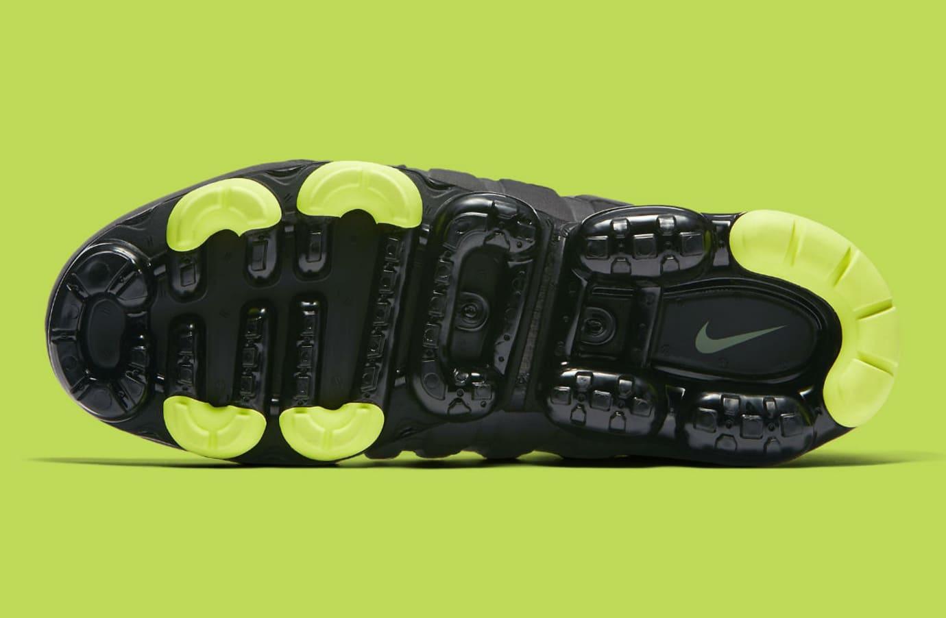d4337dd6cf2 Image via Nike Nike Air VaporMax 95 Black Volt Medium Ash Dark Pewter Dusk  Granite Release Date AJ7292-