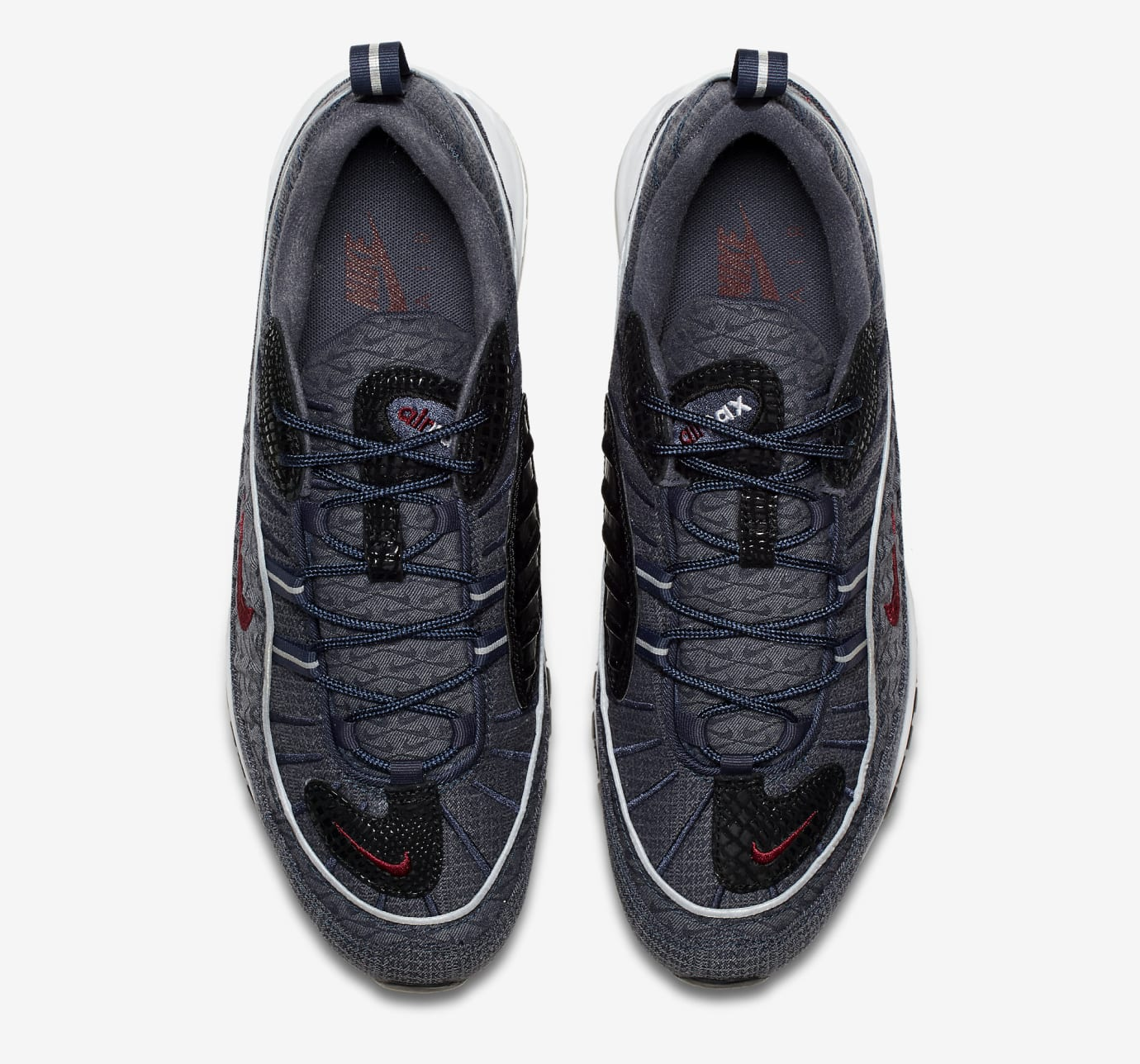 20a95625c148 Image via Nike Nike Air Max 98 Denim 924462-400 Top