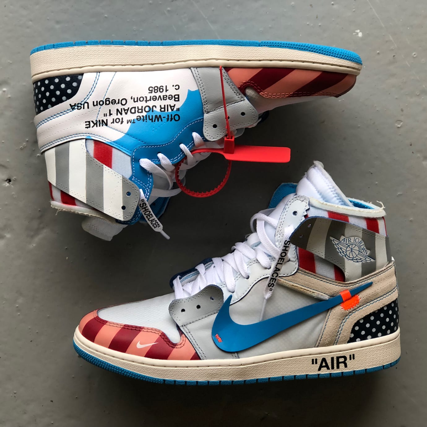 d1637db1c404 Parra x Off-White x Air Jordan 1 Mache Custom Profile