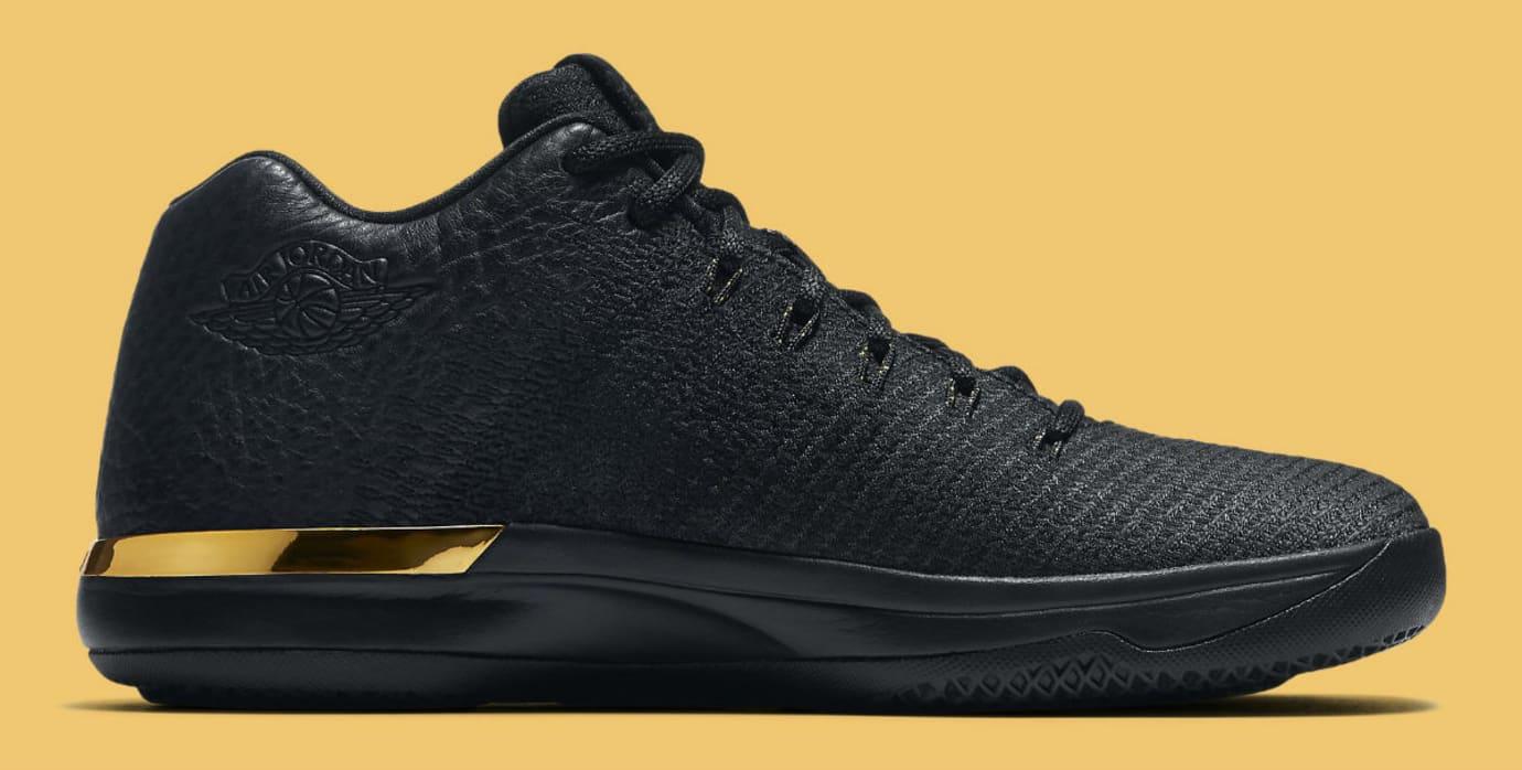 Air Jordan 31 Low Black/Gold Release Date Medial 897564-023