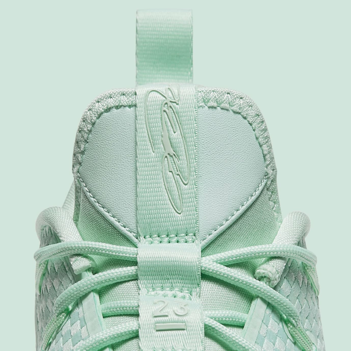 Nike LeBron 14 Low Green Release Date Tongue 878635-300
