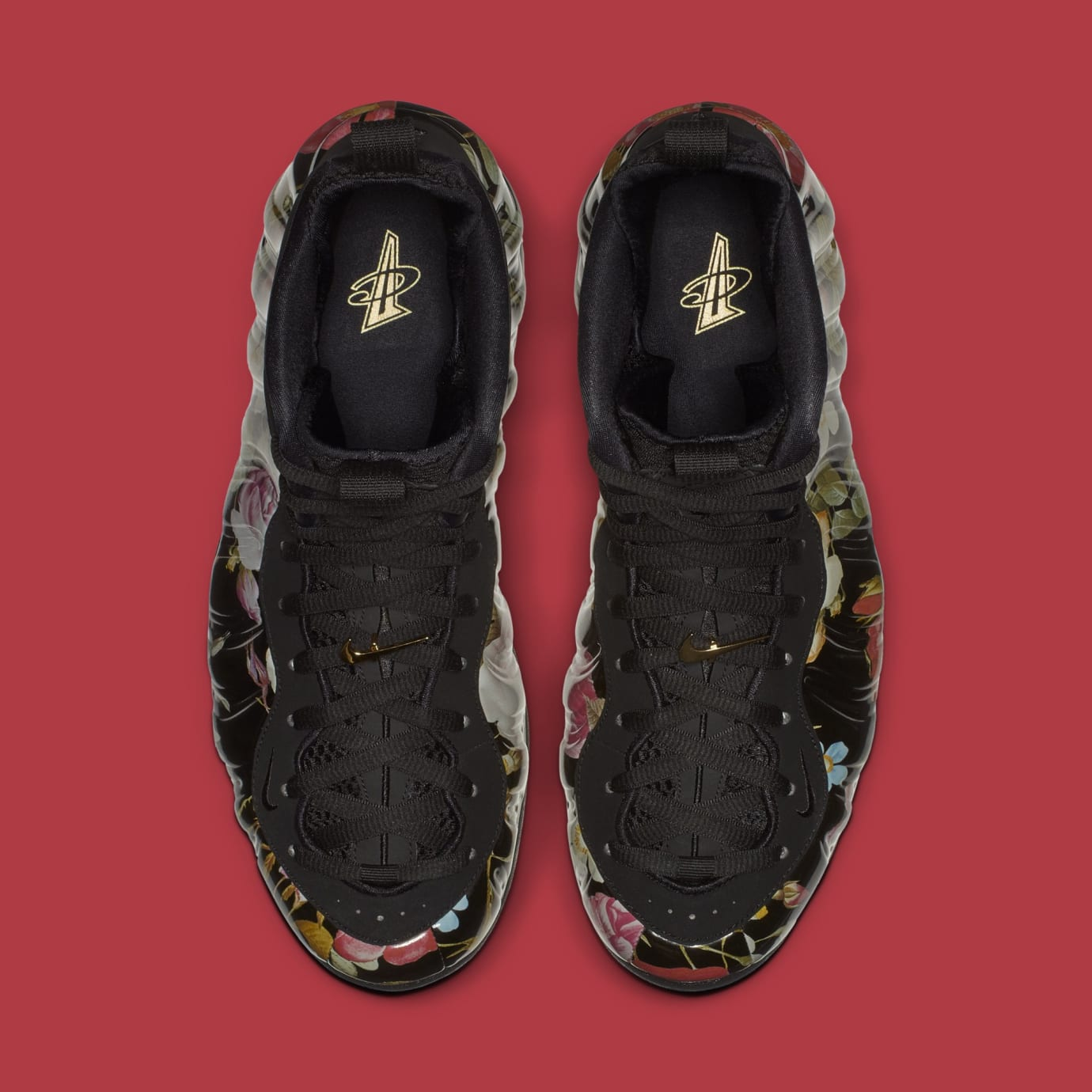 a36370ac045c6 Image via Nike Nike Air Foamposite One  Valentine s Day Floral  314996-012 ( Top)
