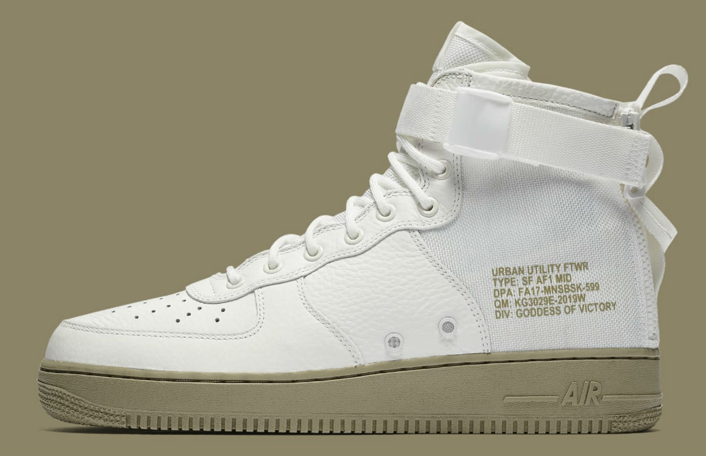 Nike SF Air Force 1 Mid Ivory Neutral Olive Release Date